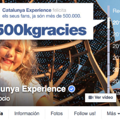Catalunya Experience now has over 500,000 Facebook followers