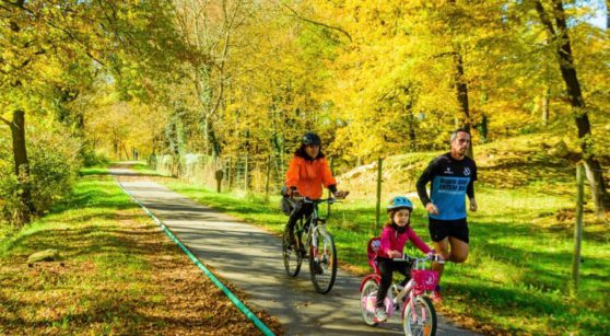 A bicycle getaway with the family